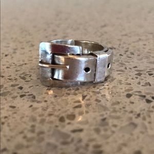 Jewelry - Sterling 💯 % Silver buckle ring.